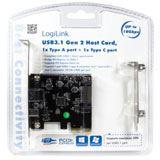 LogiLink USB 3.1 PCI-Express Karte, 2 Port, 10 GBit/Sek.