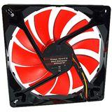 Phobya Nano-G 14 Silent Waterproof 140x140x25mm 1000-1450 U/min 20-29,9 dB(A) schwarz/rot