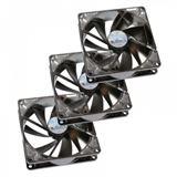 SilenX iXtrema Pro Thermistor 3er Pack 92x92x25mm 800-1600 U/min 6-14 dB(A) schwarz