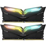 16GB TeamGroup T-Force Night Hawk RGB schwarz DDR4-3200 DIMM CL16 Dual Kit