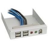 Silverstone 4x USB 2.0/Audio/FireWire silber Front Panel für