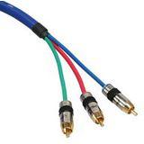 2.00m InLine Video Anschlusskabel Premium-Line 3xCinch Stecker auf