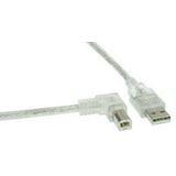 (€2,45*/1m) 2.00m InLine USB2.0 Anschlusskabel gewinkelt links