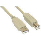 2.50m InLine USB2.0 Anschlusskabel USB A Stecker auf USB B Buchse Grau