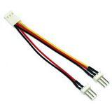 (€39,00*/1m) 0.10m InLine Lüfter Adapterkabel 3pol Stecker