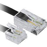 (€1,30*/1m) 3.00m InLine Telefon Anschlusskabel RJ11 Stecker auf