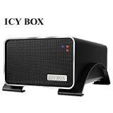 """3.5"""" (8,89cm) Icy Box IB-3218StU-B 2xSATA USB 2.0 Schwarz"""