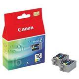 Canon Tinte BCI-16 2er-Pack 9818A002 cyan, magenta, gelb