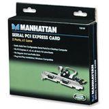 Manhattan 158169 2 Port PCIe x1 inkl. Low Profile Slotblech retail