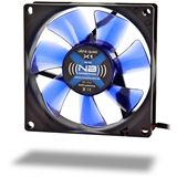 Noiseblocker NB-BlackSilentFan XC1 80x80x20mm 1700 U/min 18 dB(A) schwarz/blau/transparent