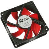 SilenX Effizio Quiet Fan Series 92x92x25mm 1600 U/min 15 dB(A) schwarz/rot