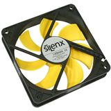 SilenX Effizio Quiet Fan Series 140x140x25mm 900 U/min 12 dB(A) schwarz/gelb