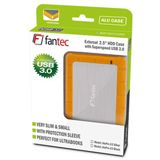 "Fantec AluPro U3 2.5"" (6,35cm) USB 3.0 silber/orange"