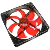 Cooltek Silent Fan 140 red 140x140x25mm 900 U/min 13.9 dB(A) schwarz/rot