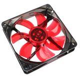Cooltek Silent Fan 120 120x120x25mm 1200 U/min 16 dB(A) schwarz/rot