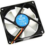 Cooltek Silent Fan 80 80x80x25mm 2000 U/min 20.3 dB(A) schwarz/weiß